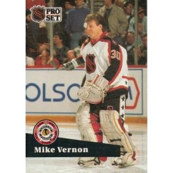 1991-92 Pro Set French c. 277 Mike Vernon CGY
