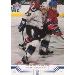 2001-02 Upper Deck c. 156 Brad Richards TBL
