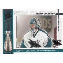 2003-04 Pacific Quest for the Cup c. 090 Evgeni Nabokov SJS