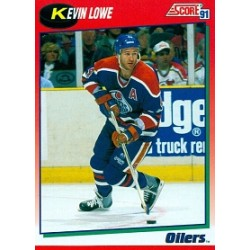 1991-92 Score Canadian English (Red) c. 109 Lowe Kevin EDM
