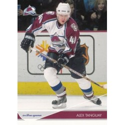 2003-04 In the Game Toronto Star c. 020 Alex Tanguay COL