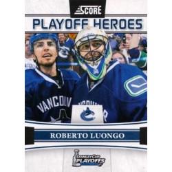 2011-12 Score Playoff Heroes c. 010 Roberto Luongo VAN