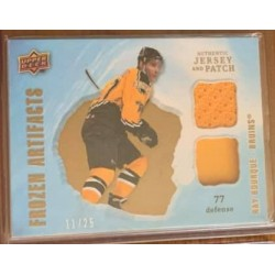2008-09 Artifacts - Frozen Artifacts Jersey Patch - Dual Gold c. FAD-RB Ray Bourque 11/25 BOS