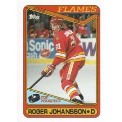 1990-91 Topps c. 096 Roger Johansson TP CGY
