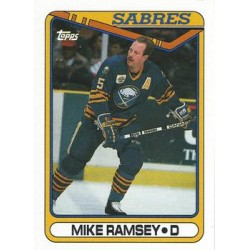 1990-91 Topps c. 102 Mike Ramsey BUF