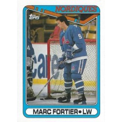 1990-91 Topps c. 176 Marc Fortier QUE