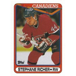 1990-91 Topps c. 186 Stephane Richer MON