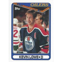 1990-91 Topps c. 307 Kevin Lowe EDM
