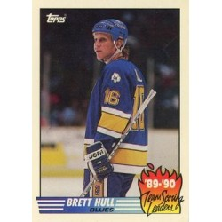 1990-91 Topps Team Scoring Leaders c. 02 Brett Hull STL