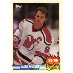 1990-91 Topps Team Scoring Leaders c. 07 Kirk Muller NJD