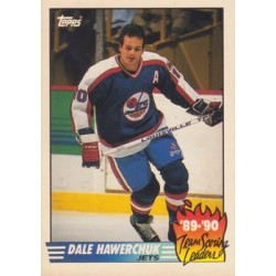 1990-91 Topps Team Scoring Leaders c. 11 Dale Hawerchuk WIN