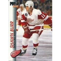 1992-93 Pro Set c. 045 Shawn Burr DET