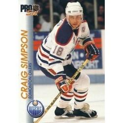 1992-93 Pro Set c. 056 Craig Simpson EDM
