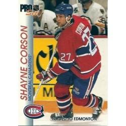 1992-93 Pro Set c. 089 Shayne Corson MON