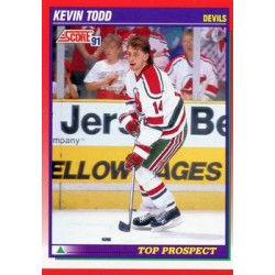 1991-92 Score Canadian English c. 287 Kevin Todd TP NJD