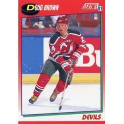 1991-92 Score Canadian English c. 163 Doug Brown NJD
