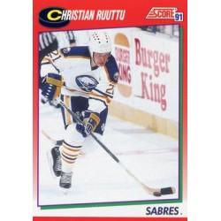 1991-92 Score Canadian English c. 045 Christian Ruuttu BUF