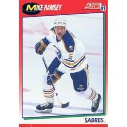 1991-92 Score Canadian English c. 061 Mike Ramsey BUF