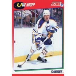 1991-92 Score Canadian English c. 084 Uwe Krupp BUF
