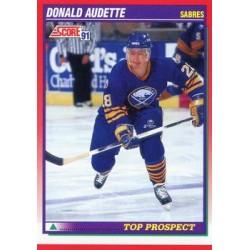 1991-92 Score Canadian English c. 279 Donald Audette TP BUF