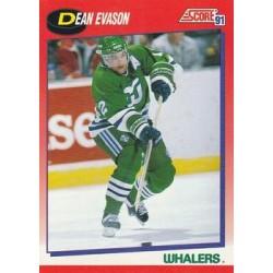 1991-92 Score Canadian Bilingual c. 017 Dean Evason HFD
