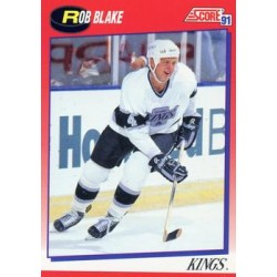 1991-92 Score Canadian Bilingual c. 027 Rob Blake LAK