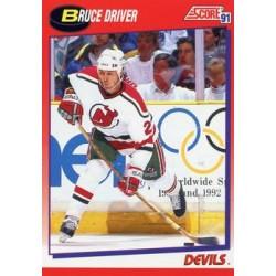 1991-92 Score Canadian Bilingual c. 089 Bruce Driver NJD