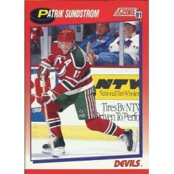 1991-92 Score Canadian Bilingual c. 117 Patrik Sundstrom NJD