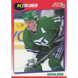 1991-92 Score Canadian Bilingual c. 118 Kevin Dineen HFD