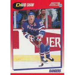 1991-92 Score Canadian Bilingual c. 161 David Shaw