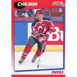 1991-92 Score Canadian Bilingual c. 163 Doug Brown NJD
