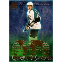 2001-02 Adrenaline World Beaters c. 018 Teemu Selanne SJS