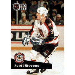 1991-92 Pro Set French c. 292 Scott Stevens STL