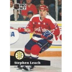1991-92 Pro Set French c. 253 Steve Leach BOS