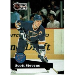 1991-92 Pro Set French c. 216 Scott Stevens STL