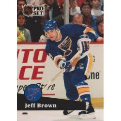 1991-92 Pro Set French c. 212 Jeff Brown STL