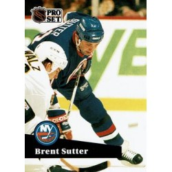1991-92 Pro Set French c. 154 Brent Sutter