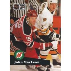 1991-92 Pro Set French c. 136 John MacLean NJD