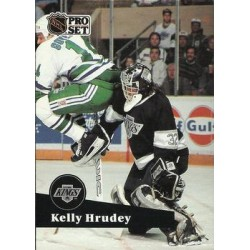 1991-92 Pro Set French c. 102 Kelly Hrudey LAK