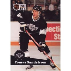 1991-92 Pro Set French c. 097 Tomas Sandstrom LAK