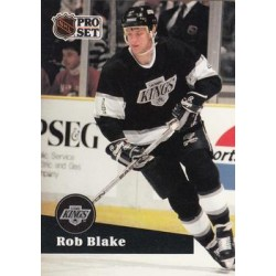 1991-92 Pro Set French c. 092 Rob Blake LAK