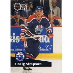 1991-92 Pro Set French c. 069 Craig Simpson EDM