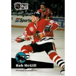 1991-92 Pro Set French c. 047 Bob McGill SJS