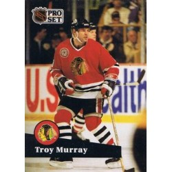 1991-92 Pro Set French c. 046 Troy Murray CHI