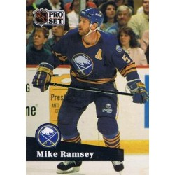1991-92 Pro Set French c. 025 Mike Ramsey BUF