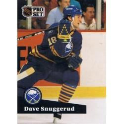 1991-92 Pro Set French c. 018 Dave Snuggerud BUF