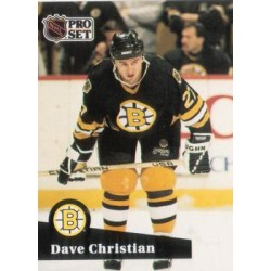 1991-92 Pro Set French c. 011 Dave Christian BOS