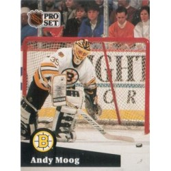 1991-92 Pro Set French c. 010 Andy Moog BOS