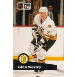 1991-92 Pro Set French c. 001 Glen Wesley BOS