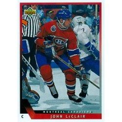 1993-94 Upper Deck c. 167 LeClair John MON